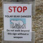 Warnschild Eisbären