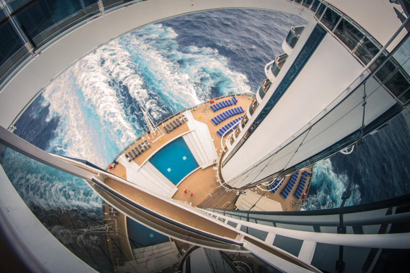 Blick vom Mast auf den Ozean