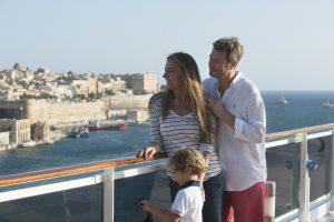 Familie an Bord von MSC Kreuzfahrten