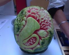 Geschnitzte Melone